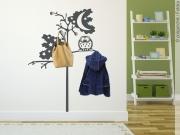Preview: Garderobenaufkleber Baum Mit Eule. Preview: Wandtattoo  Kindergarderobe. Wandtattoo Garderobe Baum Mit Eule