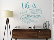Preview: Wandtattoo Spruch Life is full of beautiful things