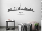 Preview: Wandtattoo mit Kieler Skyline