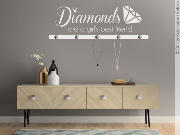 Wandtattoo Garderobe Diamonds