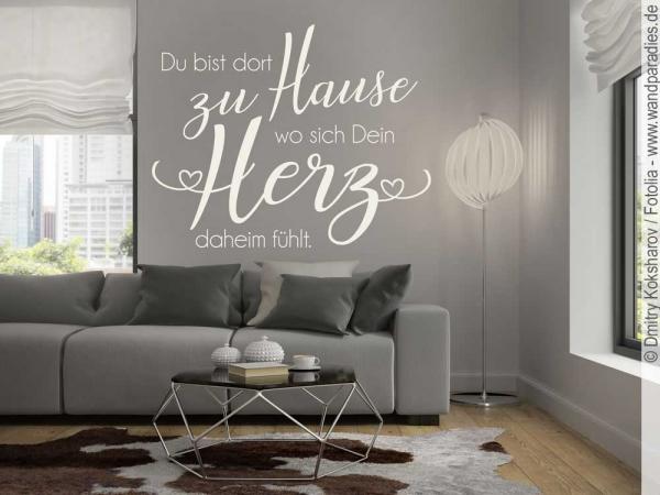 wandtattoo du bist dort zu hause i sch ner wandspruch. Black Bedroom Furniture Sets. Home Design Ideas