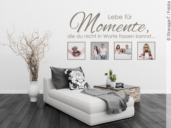 wandtattoo bilderrahmen lebe f r momente die du nicht. Black Bedroom Furniture Sets. Home Design Ideas