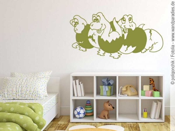 wandtattoo dinosaurier deko f r das kinderzimmer. Black Bedroom Furniture Sets. Home Design Ideas