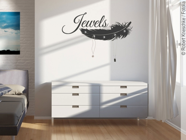 Wandtattoo Garderobe Jewels