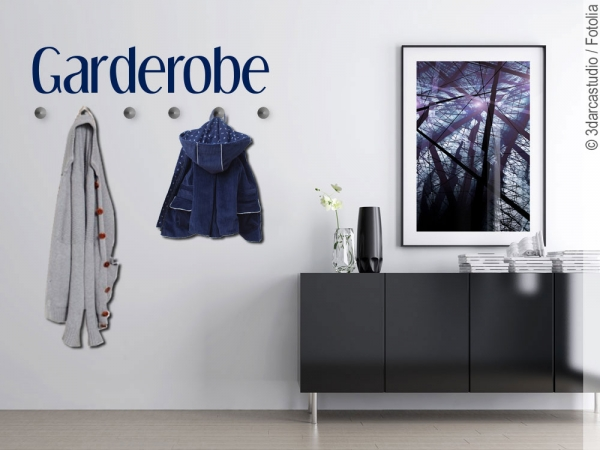 wandtattoo garderobe zeitlose deko f r diele oder flur. Black Bedroom Furniture Sets. Home Design Ideas