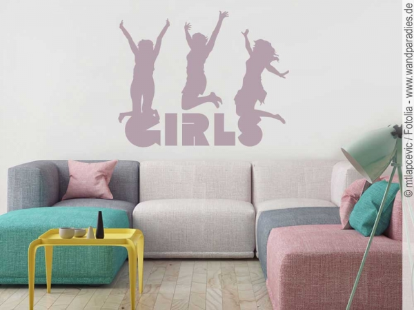 wandtattoo girls schwungvoller wandsticker f r m dchen. Black Bedroom Furniture Sets. Home Design Ideas