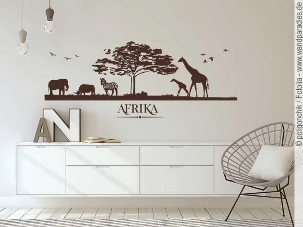 Wandtattoo landschaft afrika exotischer wandsticker for Wandtattoo afrika