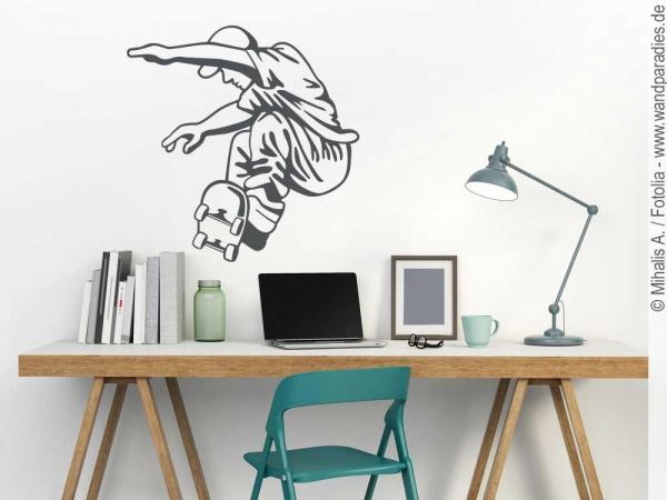 wandtattoo skateboarder cooler aufkleber f r die wand. Black Bedroom Furniture Sets. Home Design Ideas