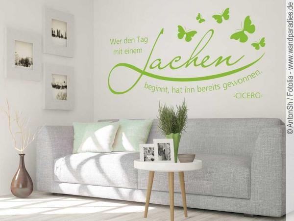 wandtattoo wer den tag sch nes zitat von cicero. Black Bedroom Furniture Sets. Home Design Ideas
