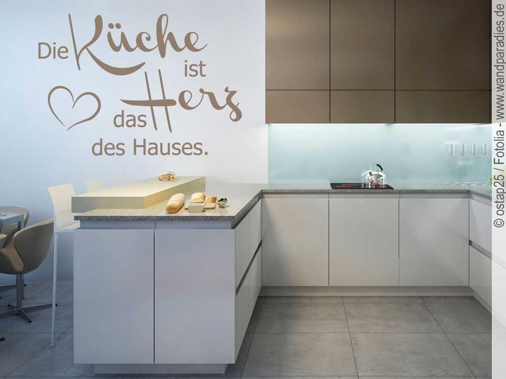 Wandtattoo Die Küche ist das Herz des Hauses | Sticker