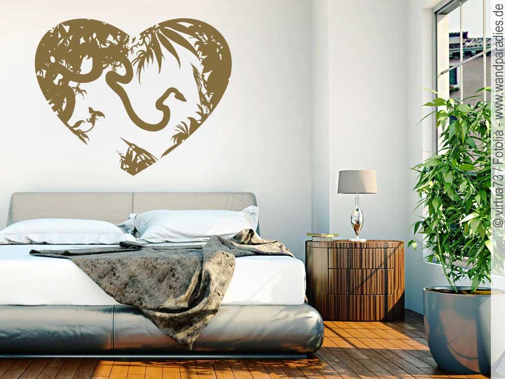 wandtattoo dschungelparadies einzigartige wanddeko. Black Bedroom Furniture Sets. Home Design Ideas