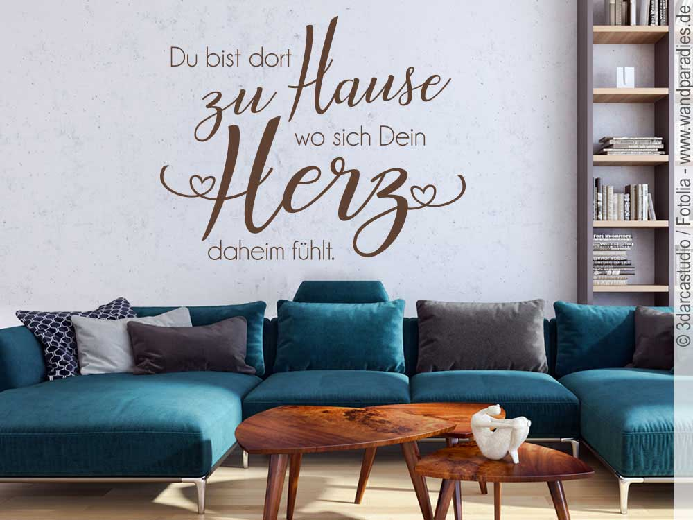 Wandtattoo Du bist dort zu Hause I schöner Wandspruch