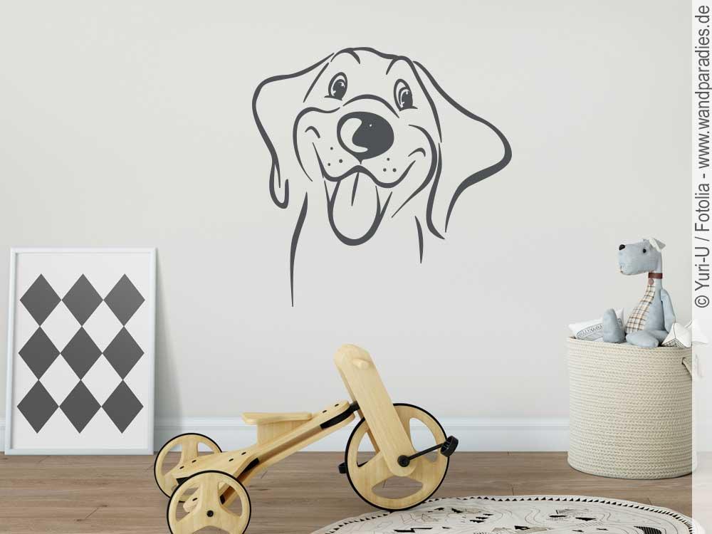 Wandtattoo Hund niedliche Dekoidee fürs Kinderzimmer