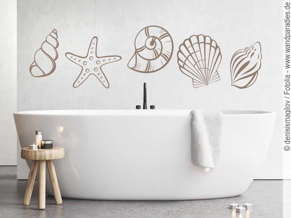 Wandtattoo Muscheln | Muschel Sticker für die Wand