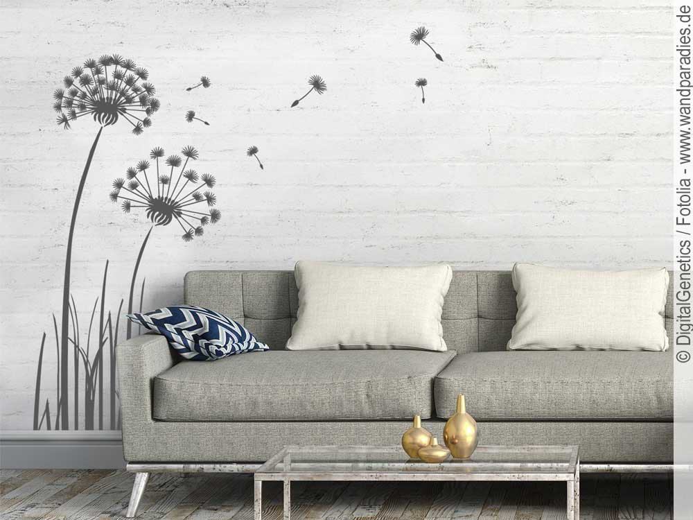 wandtattoo pusteblume selbstklebender wandsticker. Black Bedroom Furniture Sets. Home Design Ideas