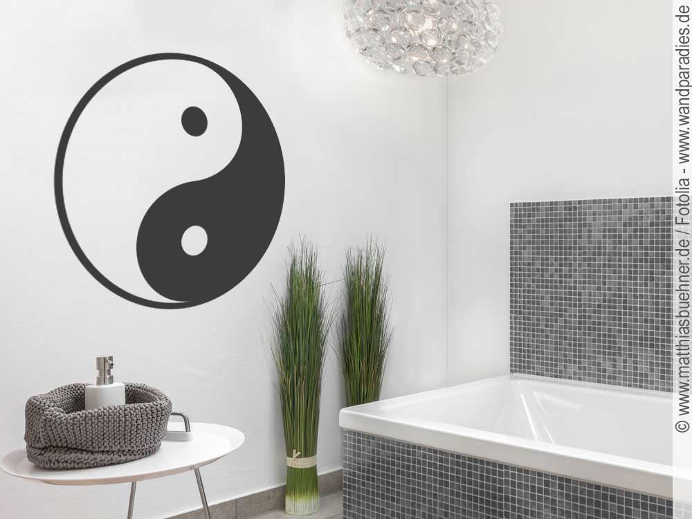 wandtattoo yin yang wandsticker im asia style. Black Bedroom Furniture Sets. Home Design Ideas