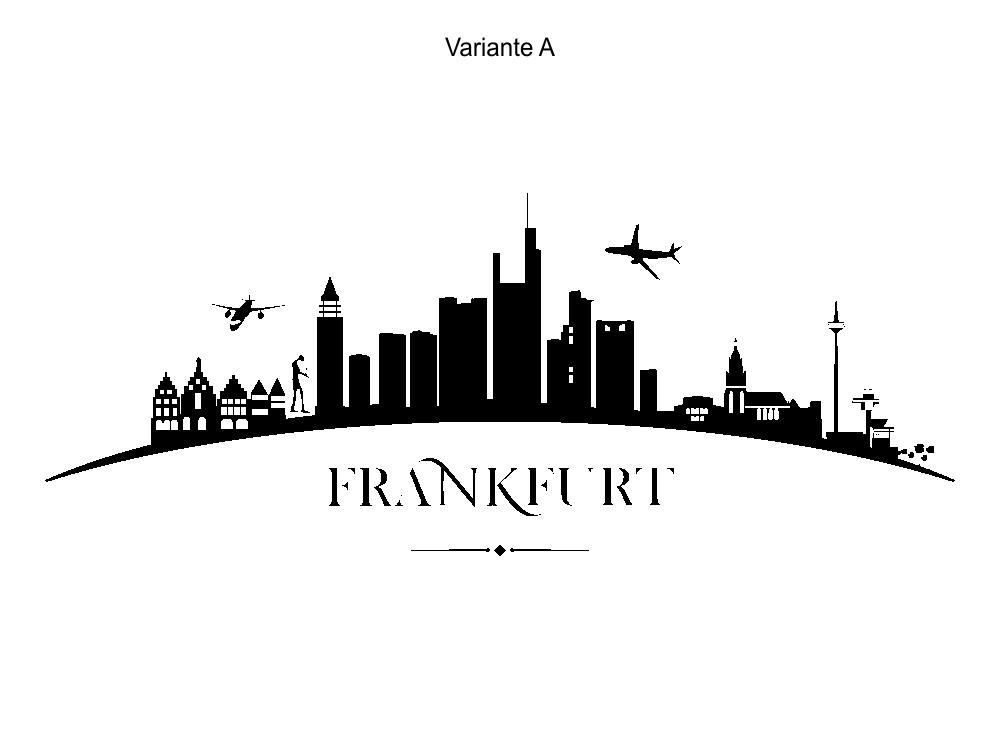 City Skyline Frankfurt Stadt Wandtattoo Wandsticker Wandaufkleber C1414