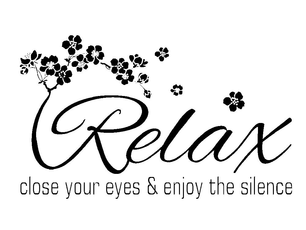 wandtattoo relax. Black Bedroom Furniture Sets. Home Design Ideas