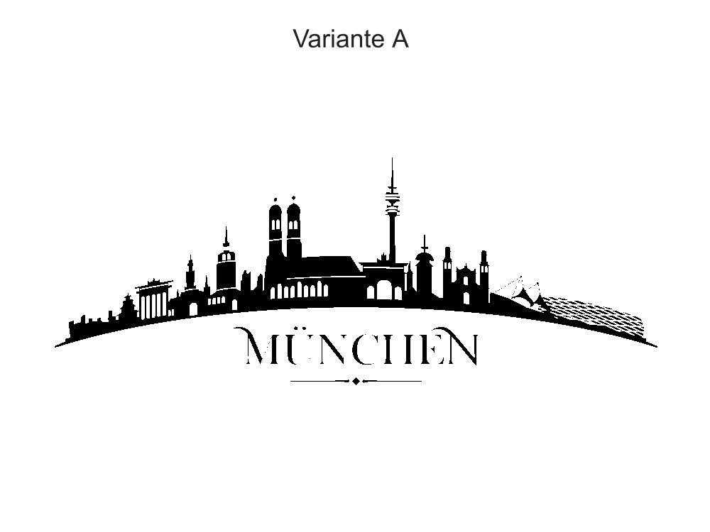 Wandtattoo Skyline Munchen Moderner Wandaufkleber