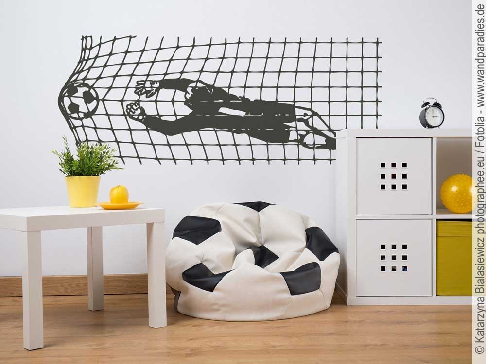 wandtattoo fu ball tor deko f rs kinderzimmer. Black Bedroom Furniture Sets. Home Design Ideas