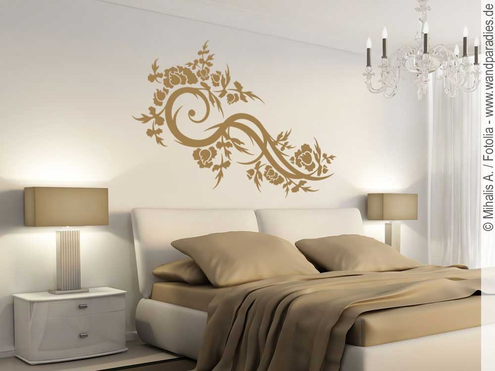 wandtattoo romantikornament traumhafter wandsticker. Black Bedroom Furniture Sets. Home Design Ideas