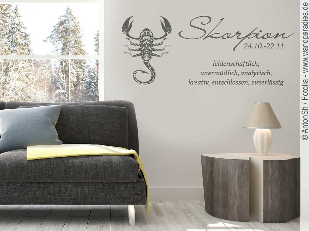 wandtattoo sternzeichen skorpion folie f r die wand. Black Bedroom Furniture Sets. Home Design Ideas