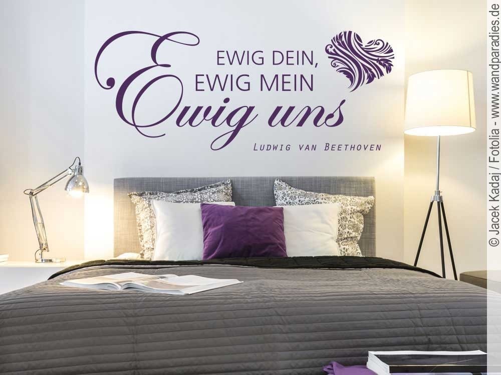 wandtattoo ewig dein ewig mein ludwig van beethoven. Black Bedroom Furniture Sets. Home Design Ideas
